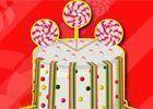 Decorar bolo com doces