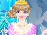 Princesa do gelo decora bolo