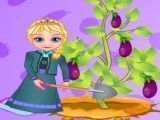 Elsa plantar no jardim