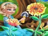 Elsa e filha jardinagem