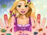 Rapunzel curativo das mãos