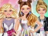 Maquiagem e roupas estilosas Barbie