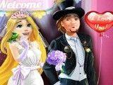 Roupas de casamento da Rapunzel