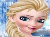 Frozen Elsa no spa limpeza facial