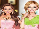 Vestir e maquiar vendedora