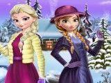 Anna e Elsa roupas da neve