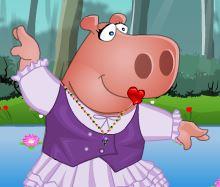 Casal de hipopótamos na moda