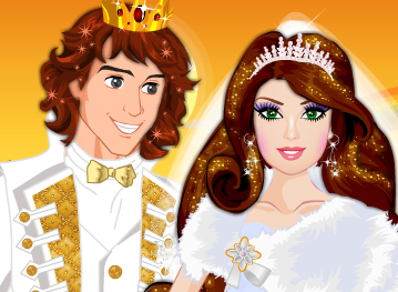 Casamento do príncipe e princesa