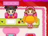 Atender meninas no salão de manicure