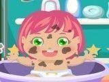 Cuidar da bebê na banheira