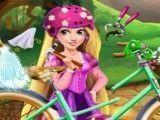 Rapunzel consertar bicicleta