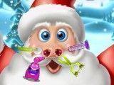 Papai Noel médico do nariz
