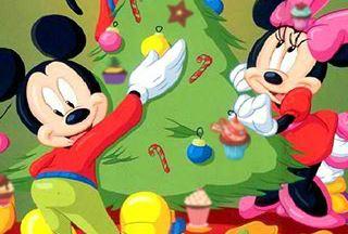 Cenário de Natal da Disney