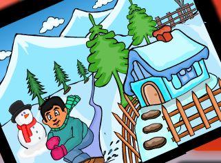 Colorir cenário da neve