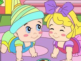 Colorir desenho dos bebês