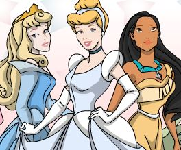 Colorir princesas da Disney