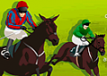Competição de corrida de cavalo