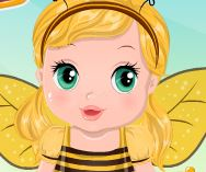 Cuidar da bebê fantasia de abelha