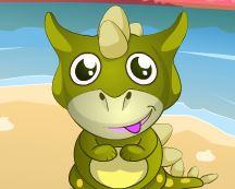 Cuidar do bebê dinossauro