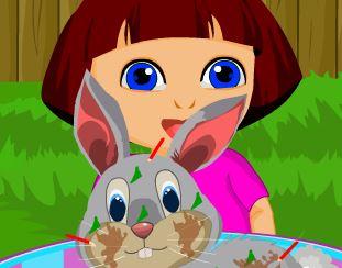Cuidar do coelhinho da Dora