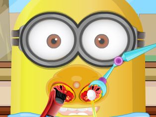 Cuidar do nariz do Minion