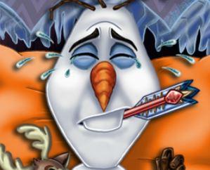 Cuidar do Olaf no hospital