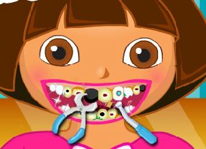 Cuidar dos dentes da Dora