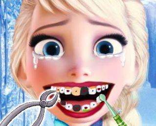 Cuidar dos dentes da Elsa