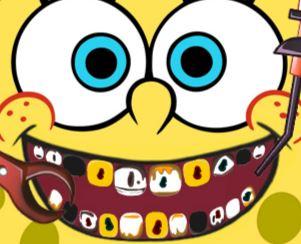 Cuidar dos dentes do Bob Esponja