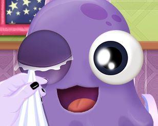 Cuidar dos olhos do monstrinho
