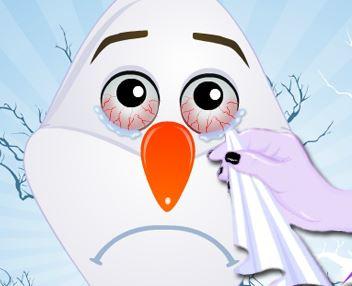 Cuidar dos olhos do Olaf