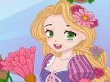 Rapunzel limpar casa