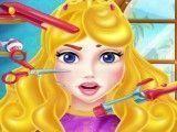 Princesa Aurora no cabeleireiro