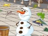 Olaf limpar salão de festas