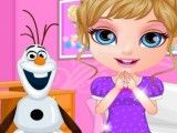 Elsa bebê decorar roupa