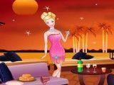 Barbie limpar piscina