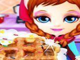 Frozen Anna fazer waffle