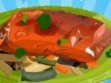 Preparar salmão com legumes