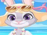 Praia com Judy
