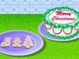 Fazer biscoitos e bolo de Natal