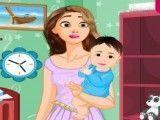 Limpeza do quarto do bebê Rapunzel