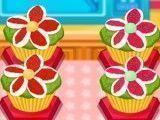 Fazer receitas de cupcakes de flores