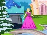 Barbie cenário no castelo