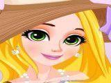 Princesa Rapunzel viajar