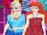 Elsa e Ariel selfie