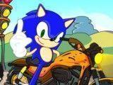 Corrida de moto com Sonic