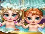 Banho bebê Elsa e Anna