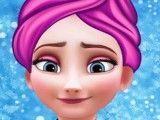 Limpeza de pele da princesa Elsa