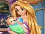 Rapunzel cuidar da neném