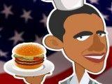 Vender hambúrguer do Obama
